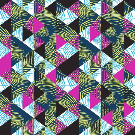 Exotic seamless pattern with triangle abstract