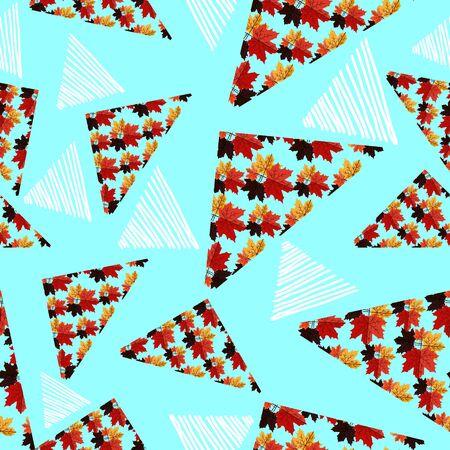 Autumn trendy creative triangle pattern