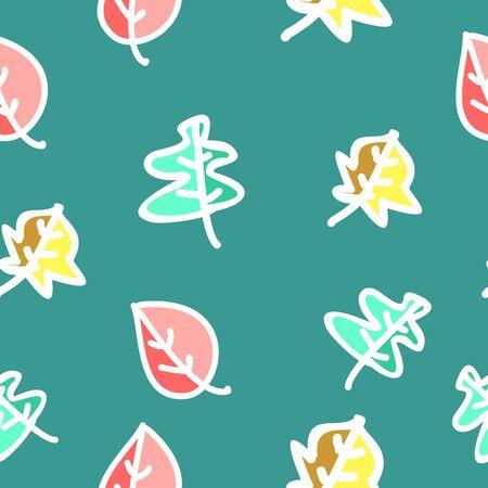 Seamless pastel autumn foliage pattern