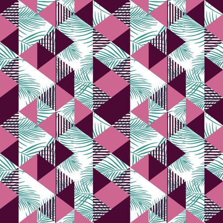 Seamless triangle pattern with feminine colors Stock Vector - 129420527