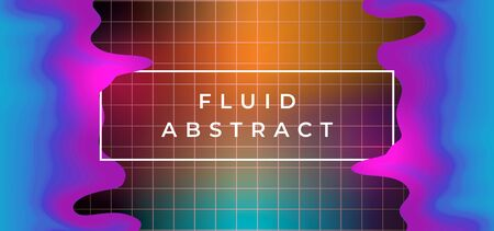 Fluid abstract background trendy colorful design with liquid colorful holographic art