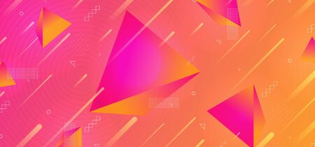 Triangle modern 3d background abstract geometric design with light effect and gradient vector illustration trendy.