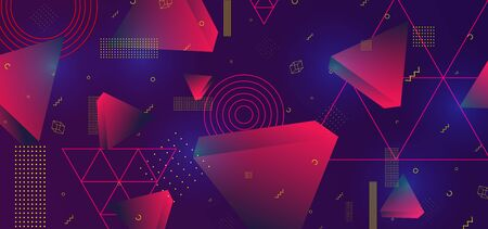 3d triangular vector minimal abstract background design futuristic gradient colors, abstract poster geometric design.