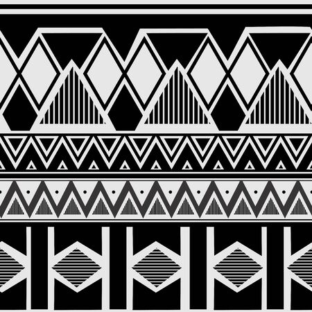 Navajo tribal seamless pattern. navajo culture background ready for fashion textile print vector illustration black and white colors Illustration