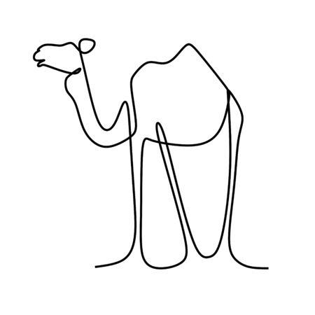 Camel one line art drawing vector 版權商用圖片 - 129612038