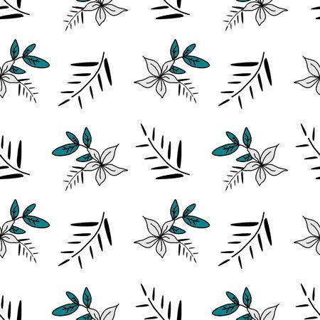 Korean seamless pattern of wild natural