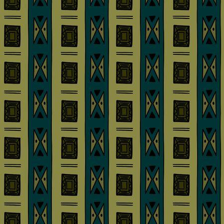 Modèle sans couture aztèque avec fond multicolore dessiné à la main tribal de luxe. Illustration vectorielle de symbole de dessin ethnique pour l'emballage de mode et l'impression textile. Vecteurs