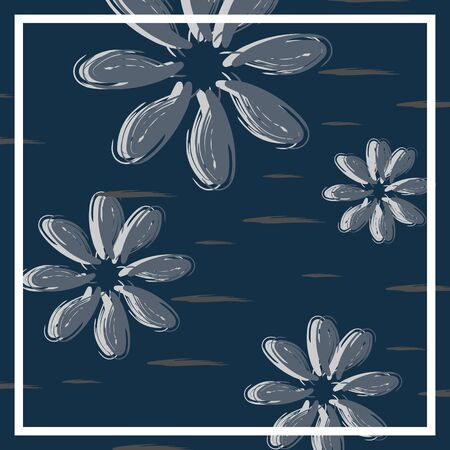 Background abstract trendy minimalist pattern with floral scandinavian style theme. Good for hijab, scarf, bandana, pillow cover, and fashion textile print or wrapping. Vector illustration eps 8.