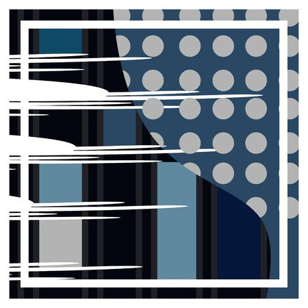 modern art design perfect for artsy background or hijab scarf pattern with scandinavian colorful style