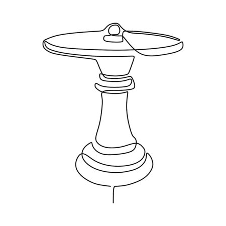 Continuous one line drawing of chess pawn vector illustration. Minimalism design 向量圖像