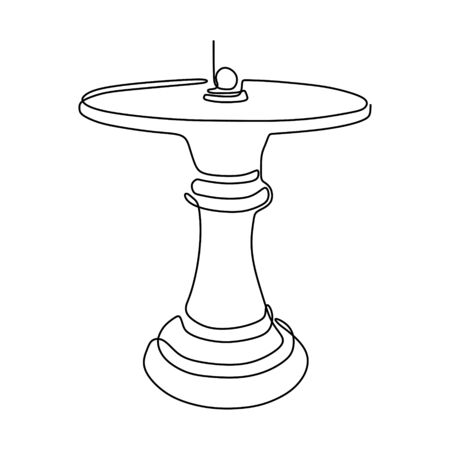 Continuous one line drawing of chess pawn vector illustration. Minimalism design.eps 16081925 向量圖像
