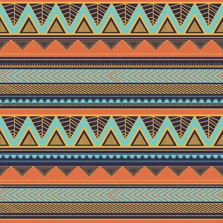 Tribal seamless pattern aztec stripes abstract hand drawn. Vector illustration ready for fashion textile print. Banque d'images - 129793872