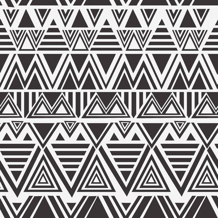 Seamless ethnic pattern. Handmade Maori style stripes. colorful print for your textiles. Vector illustration.