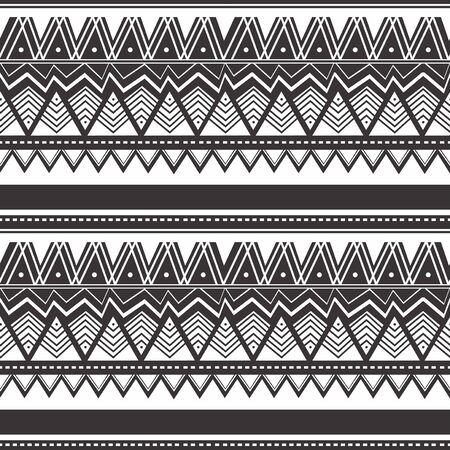 Seamless vintage pattern with Ethnic and tribal motifs. Colorful design Maori style design. Vector illustration.