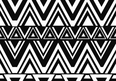 Trendy Maori style hand drawn Maori style seamless pattern motifs colorful design vector ready for fashion textile print. Banque d'images - 131908362