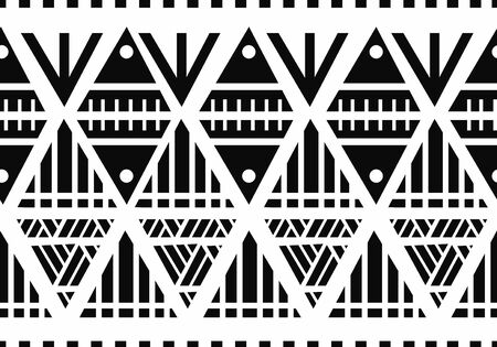 Seamless ethnic pattern. Handmade Maori style stripes. colorful print for your textiles. Vector illustration. Banque d'images - 131908369