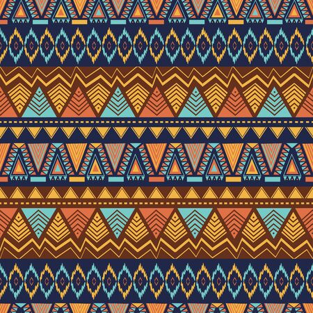 Ethnic seamless pattern with hand drawn geometric abstract. Vector illustration for textile fashion ready for print.