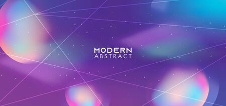 Dynamic shapes background with abstract galaxy style. 向量圖像