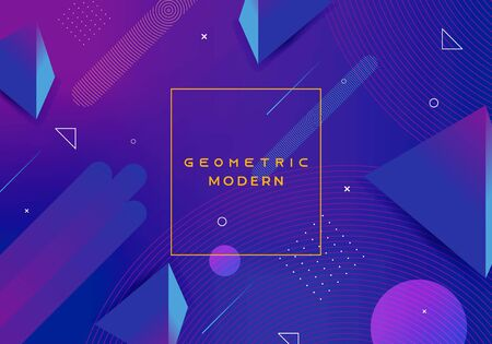 Geometric modern background with abstract dynamic gradient blue colors. 向量圖像