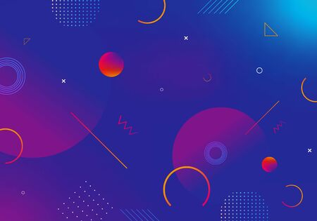 Gradient geometric shape background with abstract decoration.