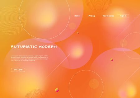 Dynamic futuristic modern background for landing page template. Illusztráció