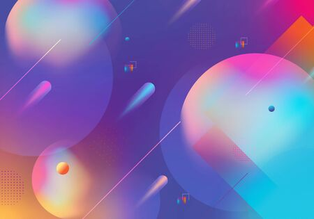 Vector Dynamic modern geometric shapes background with gradient.