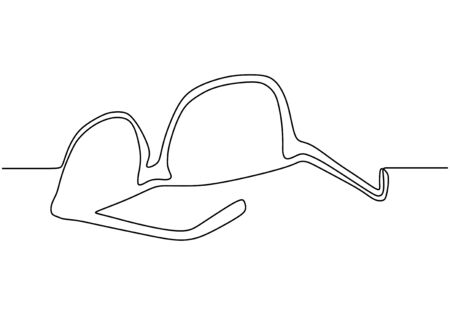 Eyeglasses one line drawing minimalism vector. Object design with simplicity style. 矢量图像