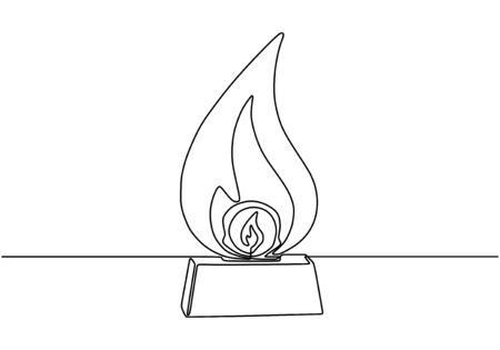 Continuous one line drawing of trophy vector. Concept of winner. Ilustracja