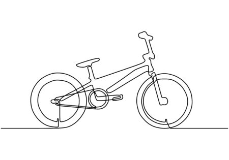 Continuous one line drawing of bicycle 写真素材 - 135120906