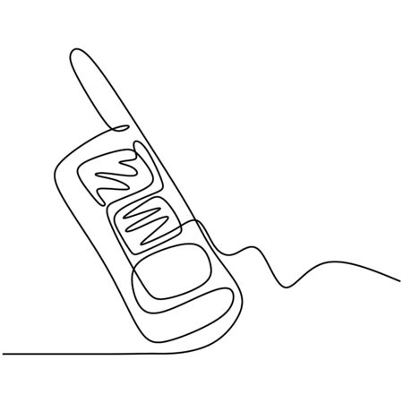 Continuous one line drawing of walkie talkie Banco de Imagens - 135383406