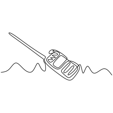 Continuous one line drawing of walkie talkie 写真素材 - 135383323