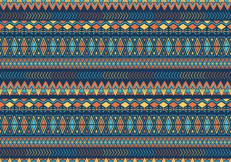 Seamless pattern with handmade ancient ethnic symbol. Vector tribal aztec stripes vintage. Background for fashion textile ready for print. Vetores