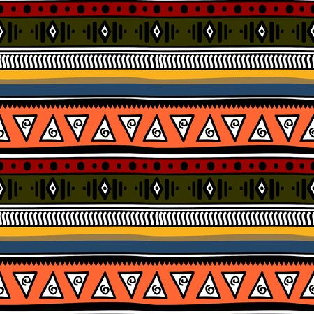 retro colors tribal seamless navajo pattern. aztec abstract geometric art print. Ethnic hipster background.
