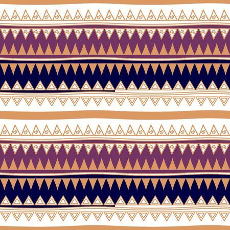 colori retrò vettore tribale modello navajo senza soluzione di continuità. stampa d'arte geometrica astratta azteca. sfondo vettoriale etnico hipster. Carta da parati, design del panno, tessuto, tessuto, copertina, illustrazione del modello tessile.