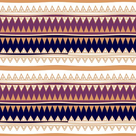 retro colors tribal vector seamless navajo pattern. aztec abstract geometric art print. ethnic hipster vector background. Wallpaper, cloth design, fabric, tissue, cover, textile template illustration.