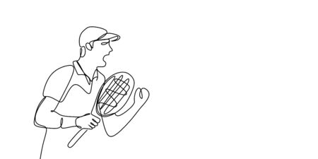 line drawings continue to be passionate about playing tennis.