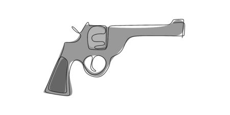 continuous line drawing tool to shoot a gun.