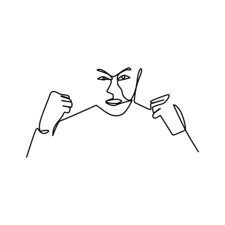 drawing a continuous line of facial expressions.