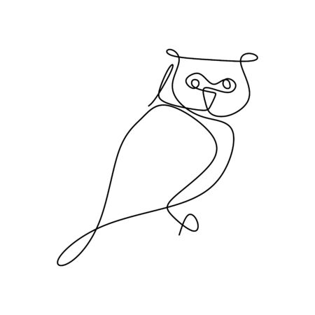 drawing a continuous line of owls with a simple design.