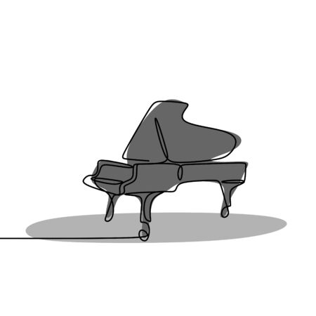 Continuous Drawing Line playing the piano.