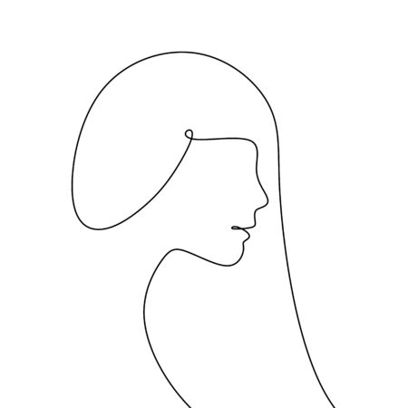 continuous line drawing of the model with his latest hair.