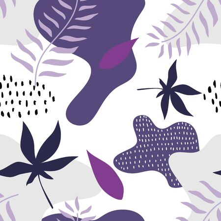 Abstract floral seamless pattern. Modern memphis botanical garden, vector illustration ready for print. Trendy contemporary art for bandana, hijab, and background, ready for fashion print.