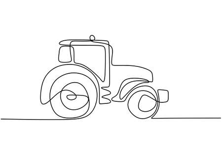 Continuous line drawing of vintage racing car driving on dusty road. Old retro vintage auto car. Classic transportation vehicle concept. Minimalist line hand draw design illustration