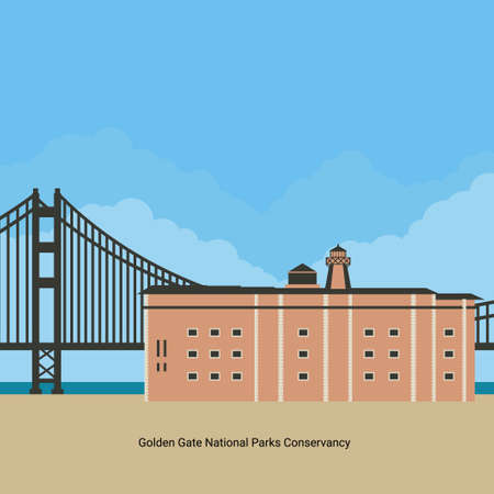 Golden Gate National Park attractions. The most visited national park in the U.S. San Fransisco botanical garden can be a recommendation for a tourist vacation or recreation. Travel and trip theme