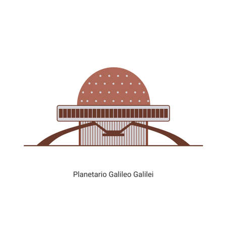 Architecture of the Galileo Galilei planetarium known as Planetario, in the Palermo district of Buenos Aires, Argentina. The world famous landmark. Recommended for vacation tourists while studying