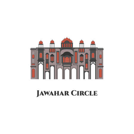The ninth gate of Jaipur located at Jawahar Circle, Jaipur, Rajasthan, India. Best vacation for travel and trip. You can enjoy musical fountain here. Highly recommend for traveler to visit in Jaipur.