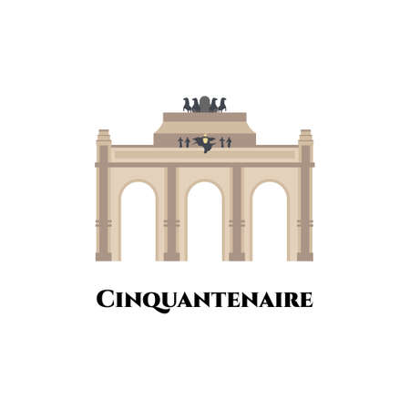 Cinquantenaire in Brussels. World famous landmark of Belgium. The Art & History Museum is a public museum in Brussels, Belgium. It is one of the most extensive museums. Great place for tourist visit