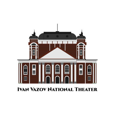 National Theatre Ivan Vazov in Sofia, Bulgaria. The oldest and most authoritative theatre in the country. One of the important landmarks of Sofia. Nice place to visit. Recommended destination