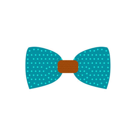 Bow tie flat icon. Man fashion stuff illustration on white background in cartoon style. Can be used bow tie icon for several purposes like: promotional materials, info-graphics, web