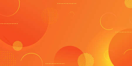 Gradient geometric shape background with dynamic circle abstract, yellow modern color design. Ilustracja